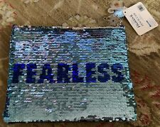 "DISNEY'S FROZEN 2 ELSA FEARLESS SEQUIN PENCIL POUCH-9.5"" x 7.75""NWT!"