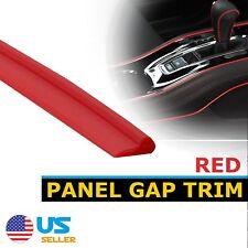 6.5Feet Molding Garnish Line Red Gap Trim Strip For Car Interior Accessory Edge