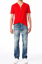 Ripped, Frayed Low Rise Skinny, Slim Jeans for Men