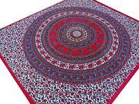 Couvre-lit indien Éléphants Tenture Mandala Jeté de lit Tenture Coton Inde L7