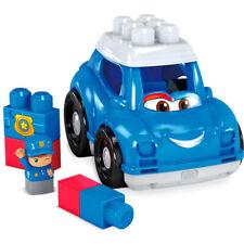 Mattel Mega Bloks Construx Bloks Peter Police Car Rolling Toy Car