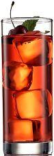 Drinking Bundle - Italian Tall Bar Glasses [Set of 6] Clear Heavy Base High Ball