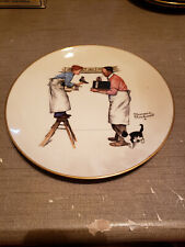 """New listing 1979 Norman Rockwell Limited Edition Gorham Winter - Year End Count, 10 3/4"""""""