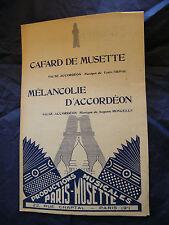 Partitur Kakerlake von Musette Grival Melancholie d'akkordeon Moncelle Music