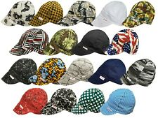 Nwt 2 Welding Welders Hat Comeaux Caps Assorted Print Reversible 100% cotton
