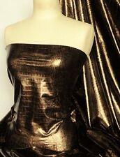 Python Skin Black/Brown Embossed Stretch Lycra Fabric Q1158 BKBRN
