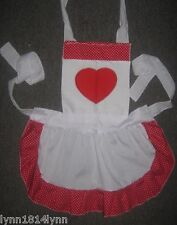 LADIES QUEEN OF HEARTS COSTUME APRON All colours Made 2 order