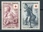 STAMP / / TIMBRE DE FRANCE NEUF N° 1048/1049 ** CROIX ROUGE 1955 COTE 16,50 €