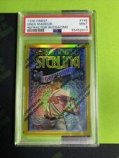 New listing 1996 Topps Finest Greg Maddux REFRACTOR W/COATING #145 PSA 9 MLB ATLANTA BRAVES