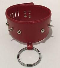 Spiked Bondage Collar Metal O Ring BDStyle