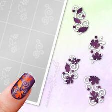 Schablonen für Airbrush & Nailart SET98 Herbst Blätter Ranke Blatt selbstklebend