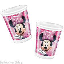 10 Disney Minnie Mouse Pink Plastic Party Cups