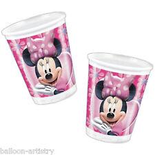 10 Disney Minnie Mouse Rose en Plastique Party Cups