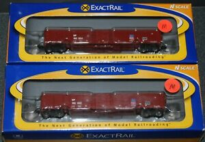 2-ExactRail N scale UP-Union Pacific Thrall Gondola--#152002 & 152034-- NEW