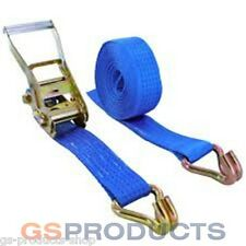6 Meter X 5000kgs Ratchet Strap 50mm Wide Webb With Claw Hooks Postage