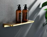 300MM Shower Caddy Basket Storage Shelf Brass Bathroom Creative Towel Ring