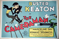 Hi-Q XL Movie Poster Buster Keaton's 1928 Film: The Cameraman~~36x24 Print