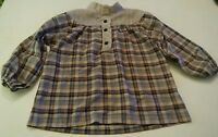 000 Vintage Palm Island of Miami Shirt Kids Size 6 Plaid