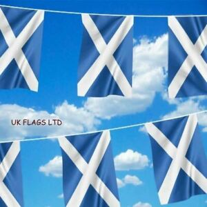 MASSIVE 33ft Scotland SKY BLUE Rugby Nations Saltire Flag Bunting