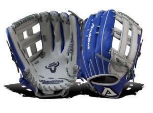 Akadema Precision Series ARZ136 Baseball Softball Glove RHT Blue/Grey