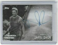TOPPS WALKING DEAD EVOLUTION NORMAN REEDUS/DARYL DIXON AUTOGRAPH CARD  #/10!!