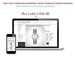 Bespoke eBay Listing Template Design,Store banner Mobile Friendly-2018 Compliant