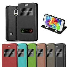 Case for Samsung Galaxy S5 MINI / DUOS Phone Cover Viewing Windows Wallet Book