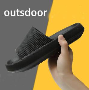 Womens Men ultra soft summer Slippers Sandals Non-slip Thick Platform Slippers