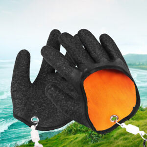 1Pcs Fishing Catching Gloves Protect Hand from Puncture Scrapes Fishe-_cd
