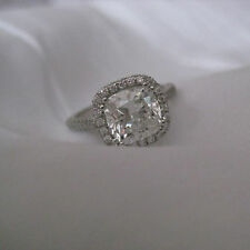 Ebay 2.20 Ct Diamond Engagement Rings Fine 14kt White Gold Cushion Cut Size P H