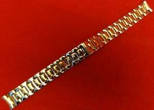 Timex T2M596 Stainless Steel 14.4mm 2 Tone Watch Band Butterfly Clasp Bracelet