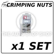 Crimping NUTS Surtido acero y aluminio de aleación de 112 piezas 1 Set 70139
