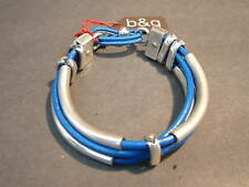 Bracelet - Blue Leather by Bodes y Garcia NEW