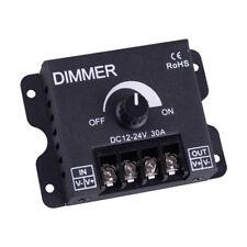 LED Strip Light Bulb Lamp Switch Dimmer Knob Adjustable Controller DC12V/24V 30A