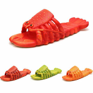 Funny Novelty Lobster Sandals Summer Slippers Beach Shoes Holiday Soft Design