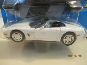 1:43 Road Champs 1998 Corvette white convertible sealed package
