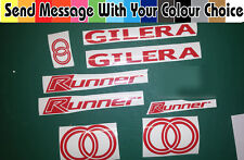 Gilera Runner decals/stickers Sp Vx Fx Vxr St dd Purejet 50 125 180 Todos Los Colores