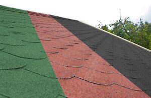 Dachschindeln Biberschwanz 3 m² mit Glasvlieseinlage Bitumenschindeln Gartenhaus
