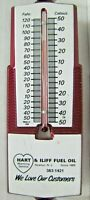 HART & ILIFF FUEL OIL NEWTON NJ SINCE 1889 AD THERMOMETER SIGN MADE IN USA *A2PS