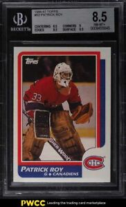 1986 Topps Hockey Patrick Roy ROOKIE RC #53 BGS 8.5 NM-MT+