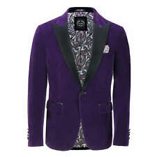 Mens Purple Velvet Tux Dinner Jacket Vintage 3 Piece Suit - Item Sold Separately