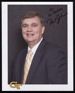 Paul Johnson Signed 8x10 Photo College NCAA Basketball Coach Autographed