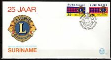 Suriname - 1982 25 years Lion Club - Mi. 983-84 clean FDC