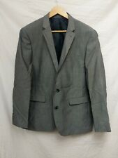 Primark Mens Blazer Suit Jacket Grey Slim Fit Size 44R #94B7