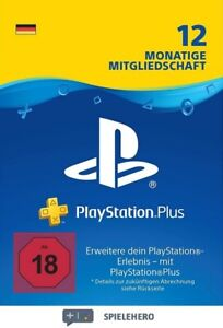 PlayStation Plus 12 Monate Mitgliedschaft - PSN Plus 365 Tage - aus Deutschland