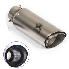 Stainless Steel Motorcycle Exhaust Muffler Tip Pipe Dual-layer Outlet 38-51mm 1x