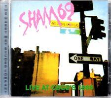 SHAM 69 - LIVE AT CBGB'S 1988 - HARRY MAY LABEL CD ALBUM - MINT