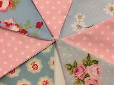MINI Fabric Bunting Pink & Blue Incl Cath Kidston Girl Baby Gift