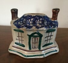 Antique Staffordshire Pearlware Pottery Still Bank House Cottage 19th century