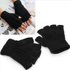 Unisex Stretch-Knitting Herren Damen fingerlose Winter Wärmer Handschuhe 6Farben